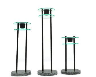 Memphis Milano style candle stick holders