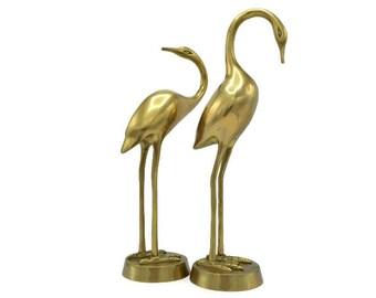 Set of vintage brass birds
