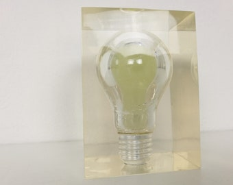 Light Bulb Paperweight by Pierre Giraudon
