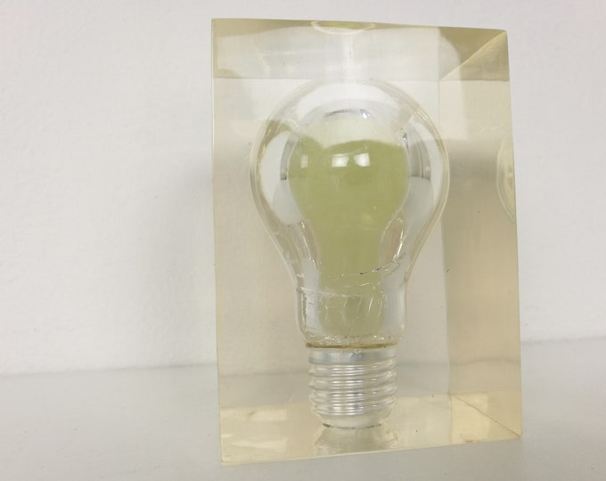 Featured listing image: Light Bulb Paperweight by Pierre Giraudon