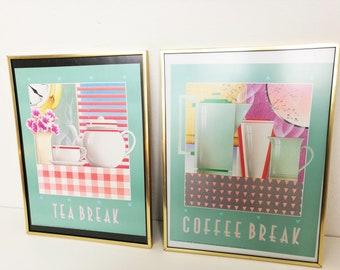 Set of vintage 80's Athena prints