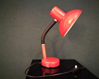 Vintage orange desk light, 70's