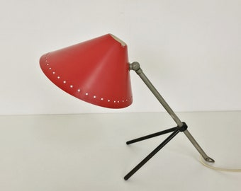 Red Pinocchio lamp by Hala Zeist