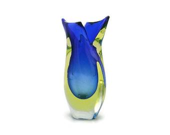Murano Sommerso vase by Flavio Poli