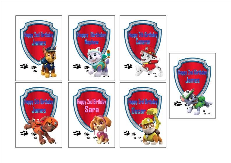 Personalised Printed PAW PATROL Birthday Cards