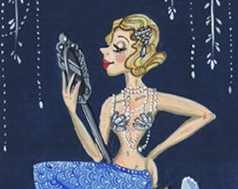 Flapper Mermaid Print