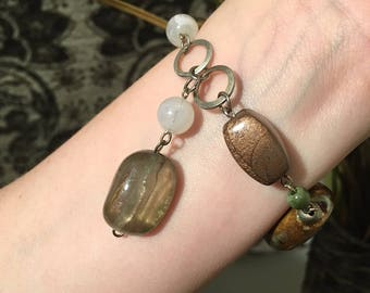 Repurposed Fashion Bracelet with Toggle