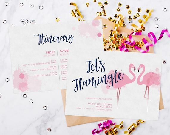 Bachelorette Invitation Template | Instant Download Bachelorette Invitation Template Tropical Etsy
