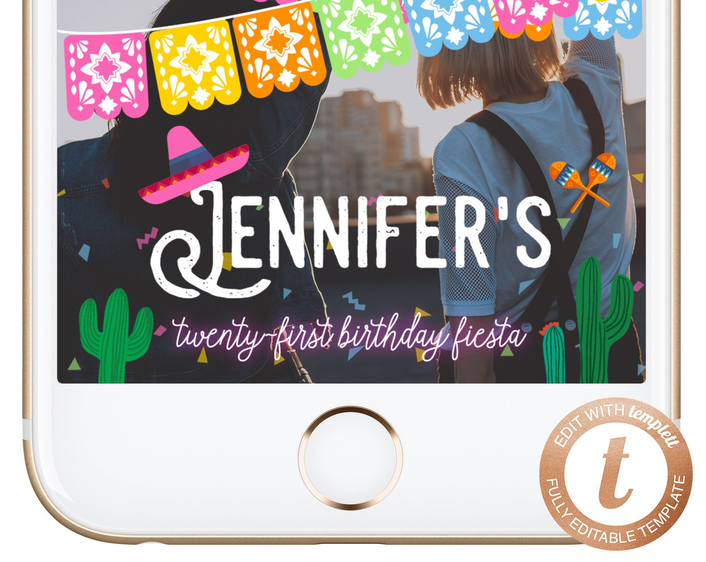 download Any Age Easy to use edit and submit today Birthday snapchat Filter fiesta Mexican design Instant download Geofilter