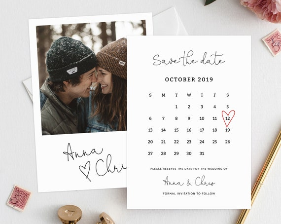 editable save the date calendar save the date template. Black Bedroom Furniture Sets. Home Design Ideas