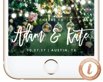 INSTANT DOWNLOAD Snapchat Filter Wedding Snapchat Wedding Geofilter Wedding Filter Christmas Engagement Rustic Templett, W01