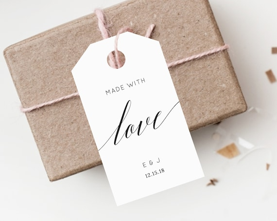Instant Download Favor Tags Thank You Tag Wedding Favor Tag Etsy