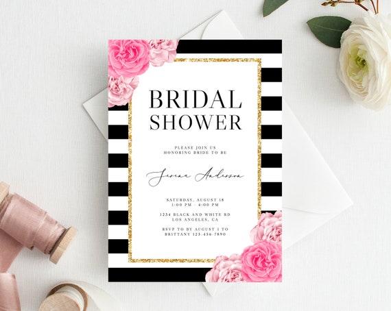 Instant Download Bridal Shower Invitation Template Printable Etsy