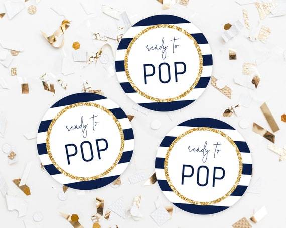 Ready To Pop Labels Template Tags Baby Shower
