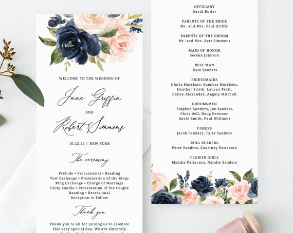 Templett Blush Welcome Board Instant Download Welcome to the Wedding Printable W29 Blush Floral Wedding Welcome Sign Template