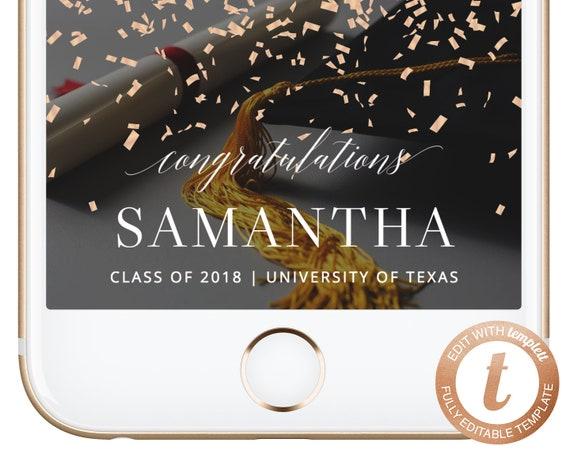 INSTANT DOWNLOAD Snapchat Geofilter Graduation Snapchat Filter College Graduation Geofilter Snapchat Congrats Grad Party Geofilter Templett