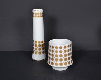SALE! . Set of 2 Porcelain vase by  Bavaria Tirschenreuth -- Germany