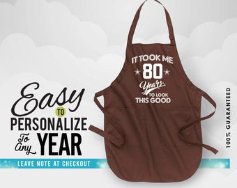 80th Birthday Gifts Gift Apron 1938 Woman