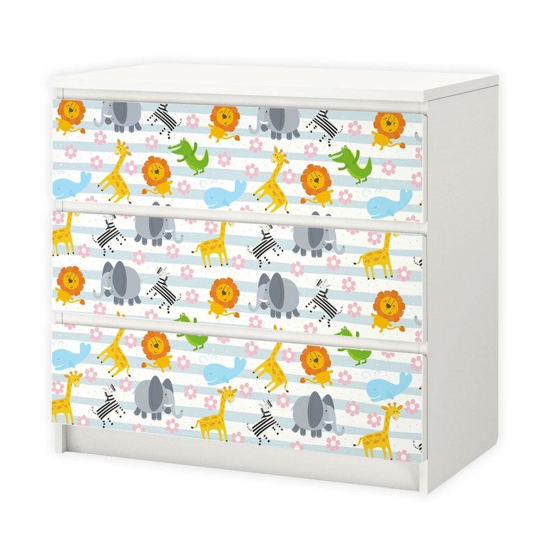 nikima Spielfolie// Möbelfolie für IKEA TROFAST Bauernhof Aufkleber Sticker Kin