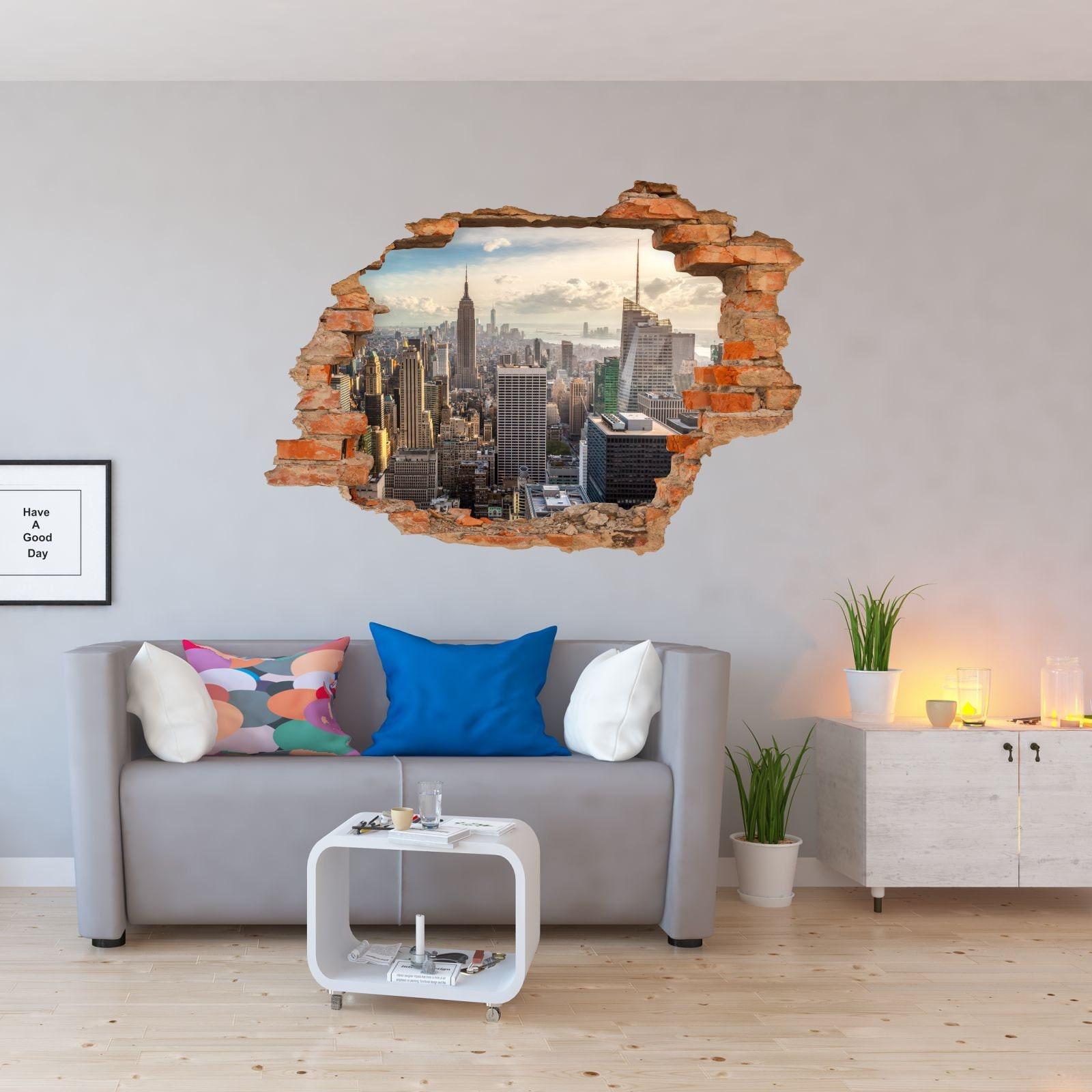 21 Wandtattoo New York Manhattan Loch in der Wand Big Apple