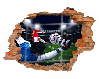 033 Walltattoo Tor Football-hole in the wall