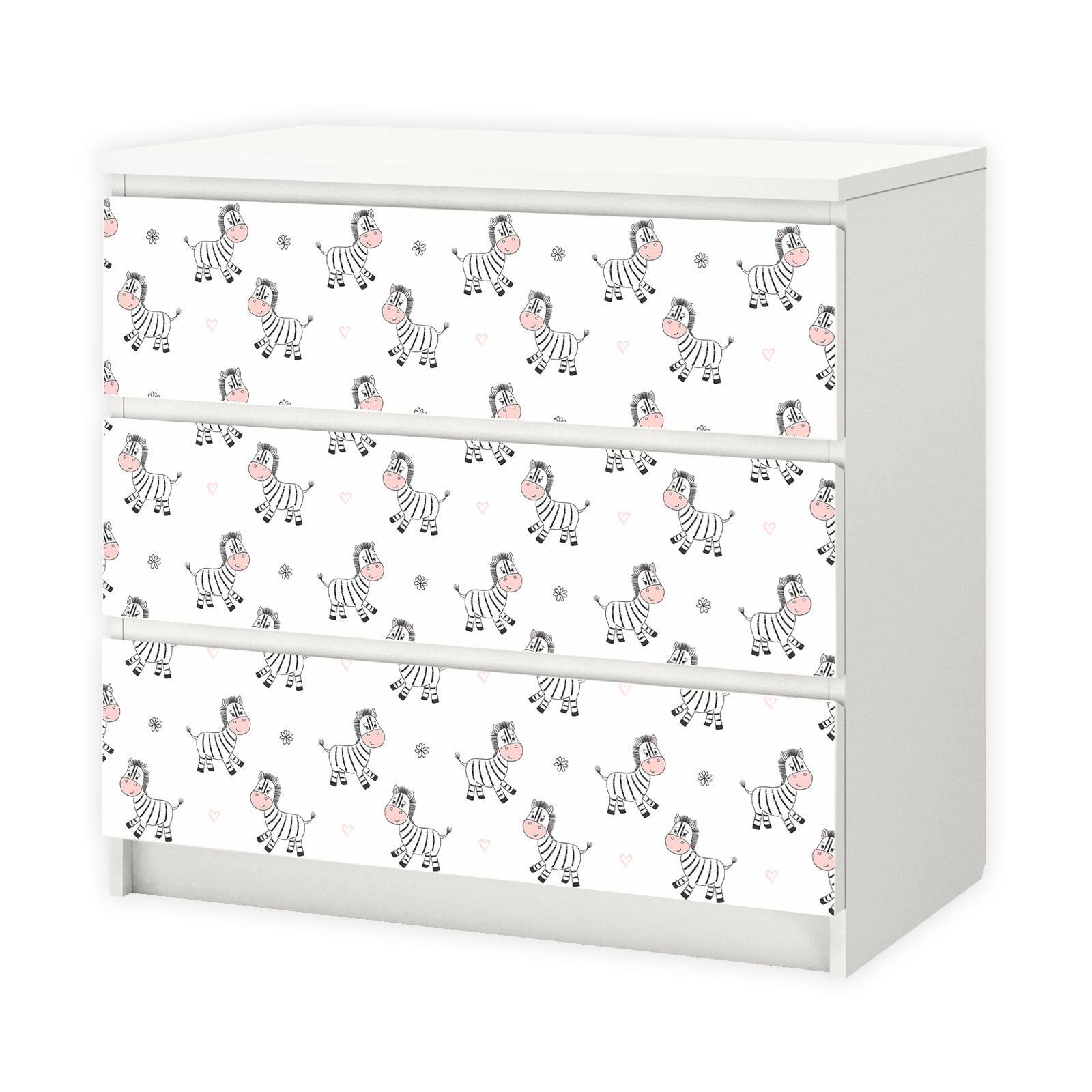 feuille de meubles 016 pour ikea malm zebra etsy. Black Bedroom Furniture Sets. Home Design Ideas