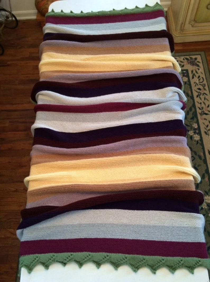 Hand Knit Jam on Toast Blanket Custom Order Only
