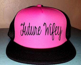 Future Wifey-2 Trucker Hat Snapback Custom Trucker Wedding Hat Bachelorette Hat Wedding Party Hat Bridal Hat Honeymoon Hat Just Married Hat