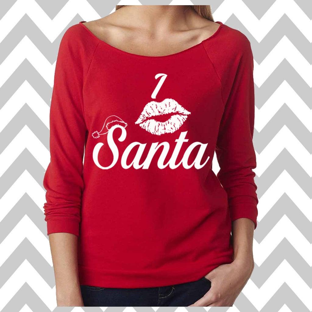 Kissing Santa Funny Christmas Sweatshirt Ugly Christmas | Etsy