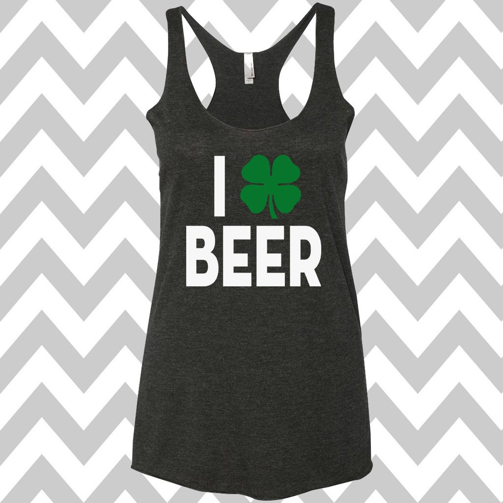 842144de2 I Shamrock Beer St. Patrick's Day Tank Top Funny St. | Etsy