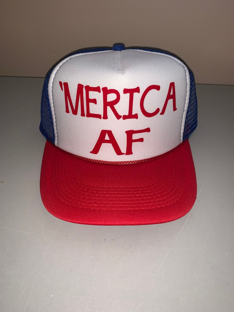 09c88ffc8 Merica AF Trucker Hat 'Merica Trucker Hat Fourth Of July Hat Snapback Hat  4th of July Independence Day USA Hat Snap Back Hat