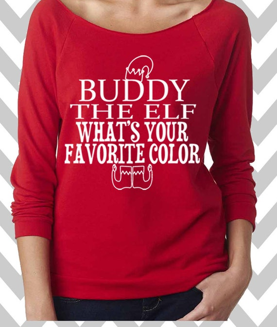 Buddy The Elf Funny Christmas Sweatshirt Ugly Christmas Etsy