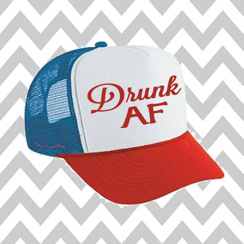 289b7d129 Drunk AF Trucker Hat Merica Trucker Hat Fourth Of July Hat Snapback Hat 4th  of July Independence Day Snap Back Hat Lake Hat River Hat Havasu