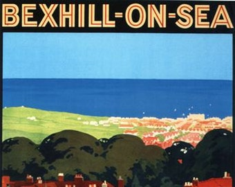 Vintage Southern Railway Bexhill On Sea Railway Poster A3/A2/A1 Print