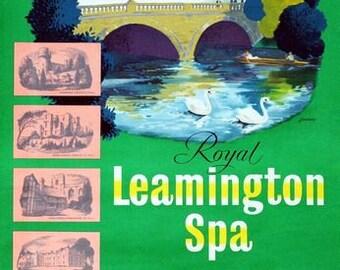 Tr91 Vintage Royal Leamington Spa Gwr viajar en tren Poster volver a imprimir A4