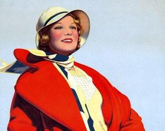 Vintage Cunard Cruises  Poster A3 Print