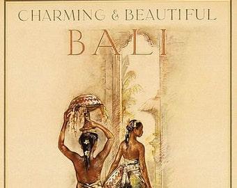 Vintage Bali Hotel Denpasar Indonesia Tourism Poster A3 Print