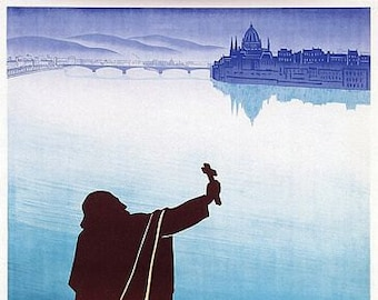 Vintage Budapest Hungary Danube Tourism Poster A3 Print
