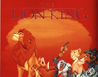 Vintage Lion King Movie Poster A3/A2/A1 Print