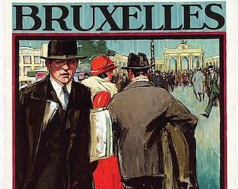 Vintage 1925 Brussels International Fair Poster A3 Print
