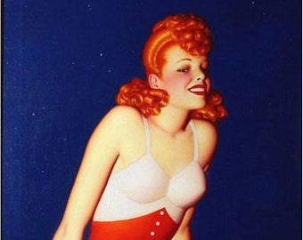 Vintage Pin Up Girl 1615 Pinup Poster  A3 Print