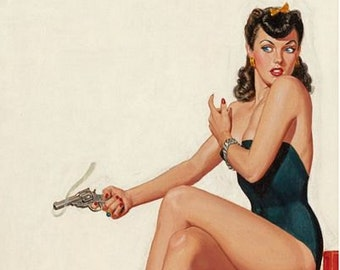 Vintage Pin Up Girl 1611 Pinup Poster  A3 Print