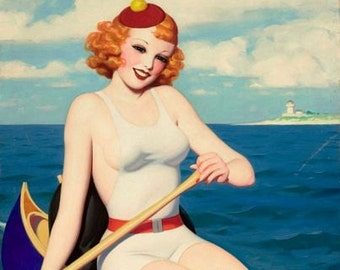 Vintage Pin Up Girl 1617 Pinup Poster  A3 Print