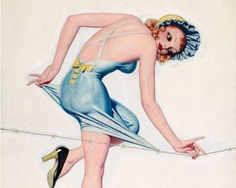 Vintage Pin Up Girl 164 Pinup Poster  A3 Print