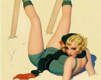 Vintage Pin Up Girl 163 Pinup Poster  A3 Print