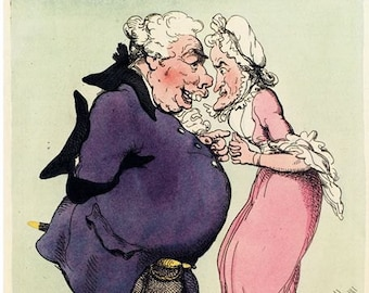 "Vintage 18th Century British Political Satire Cartoon ""Convex"" Poster A3/A2/A1 Print"