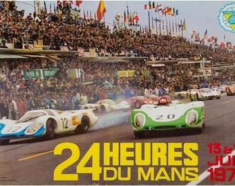Vintage 1985 Le Mans 24 Hour Race Motor Racing Poster Print A3//A4