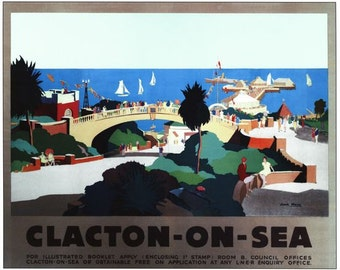 Vintage LNER Woodhall Spa  Railway Poster A4//A3//A2//A1 Print