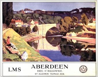 Vintage LMS Scotland For Deer Stalking Railway Poster A3 A2  Reprint