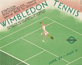 A2 Print 1926 Wimbledon Tennis Championships Poster  A3